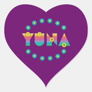 Yuna in Flores Rainbow Heart Sticker