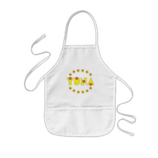 Yuna in Flores Yellow Kids' Apron