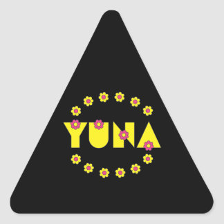 Yuna in Flores Yellow Triangle Sticker