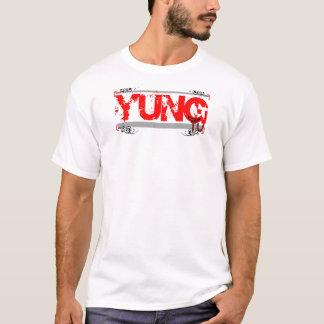 Yung CB Tv (Logo 2) Ladies Tonal Stripe T-Shirt