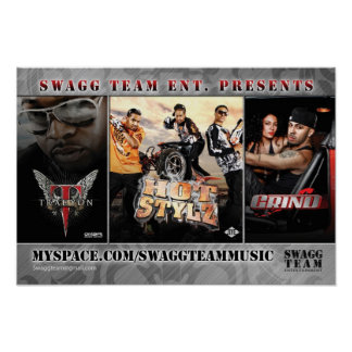 Yung Joc Swagg Team Flyer Back Poster