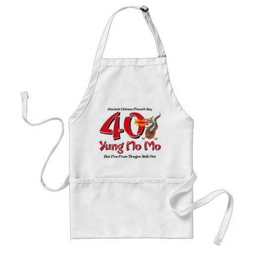 Yung ningún 40.o cumpleaños del MES Delantal