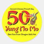 Yung ningún 50.o cumpleaños del MES Etiqueta Redonda