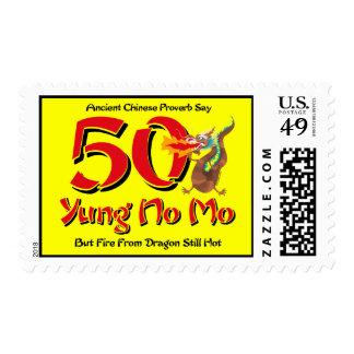 Yung ningún 50 o cumpleaños del MES Franqueo