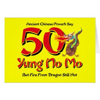 Yung ningún 50 o cumpleaños del MES Felicitaciones