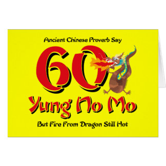 Yung ningún 60 o cumpleaños del MES Felicitacion