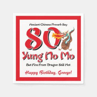 Yung ningún 80.o cumpleaños del MES Servilleta Desechable