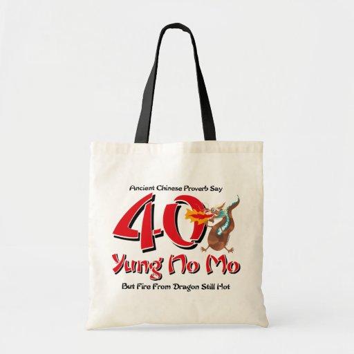 Yung No Mo 40th Birthday Bags