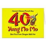 Yung No Mo 40th Birthday Card