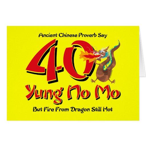 Yung No Mo 40th Birthday Cards