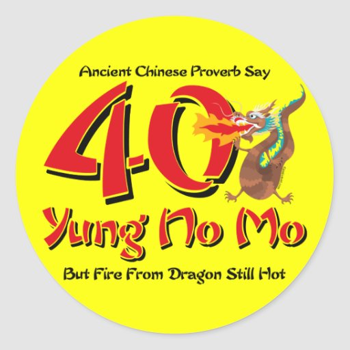 Yung No Mo 40th Birthday Stickers
