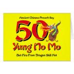 Yung No Mo 50th Birthday Card