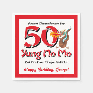 Yung No Mo 50th Birthday Paper Napkin