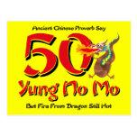 Yung No Mo 50th Birthday Postcard Invitation