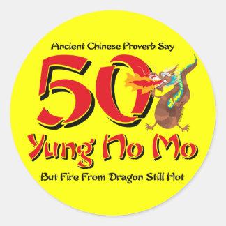 Yung No Mo 50th Birthday Classic Round Sticker