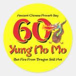 Yung No Mo 60th Birthday Round Sticker