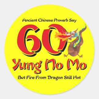 Yung No Mo 60th Birthday Classic Round Sticker
