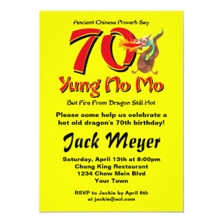 Yung No Mo 70th Birthday Card
