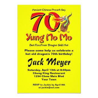 Yung No Mo 70th Birthday 5x7 Paper Invitation Card