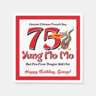Yung No Mo 75th Birthday Paper Napkin