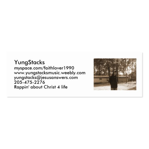 YungStacks Show Cards Business Cards