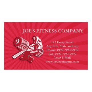 Yunque y almádena de la pesa de gimnasia retros tarjeta personal