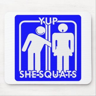 Yup She Squats Weightlifting Strength Training Mouse Pad