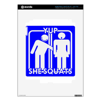 Yup She Squats Weightlifting Strength Training Skins For iPad 3