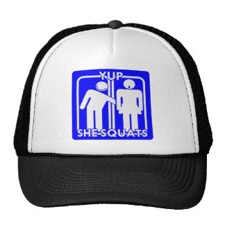 Yup She Squats Weightlifting Strength Training Trucker Hat