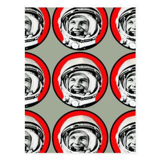 Yuri Gagarin - héroe y cosmonauta soviéticos Tarjetas Postales