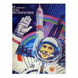 Yuri Gagarin postcard