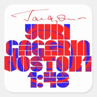 Yuri Gagarin Square Sticker