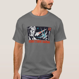Yuri Gagarin - Vintage Soviet Space Propaganda T-Shirt