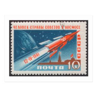 Yuri Gagarin Vostok 1 is 1st Man in Space Post Card