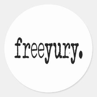 Yury libre etiquetas redondas
