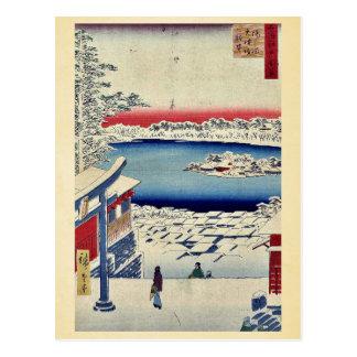 Yushima Tenjin shrine by Andō,Hiroshige Postcard