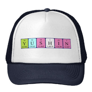 Yushin periodic table name hat