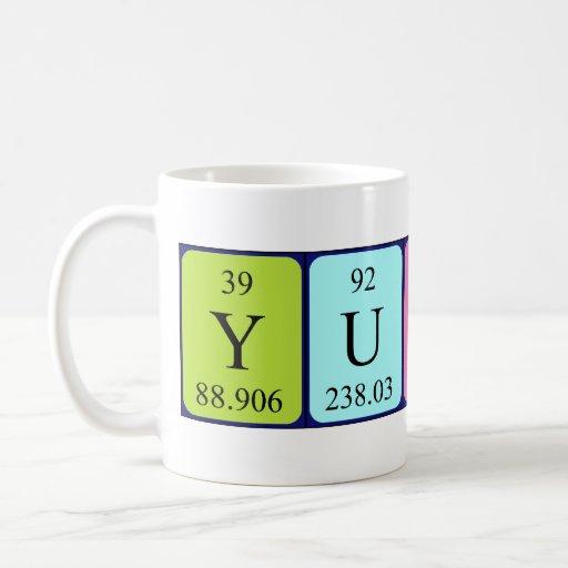 Yusuf periodic table name mug