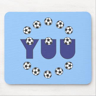 Yuu in Soccer Blue Mouse Pad