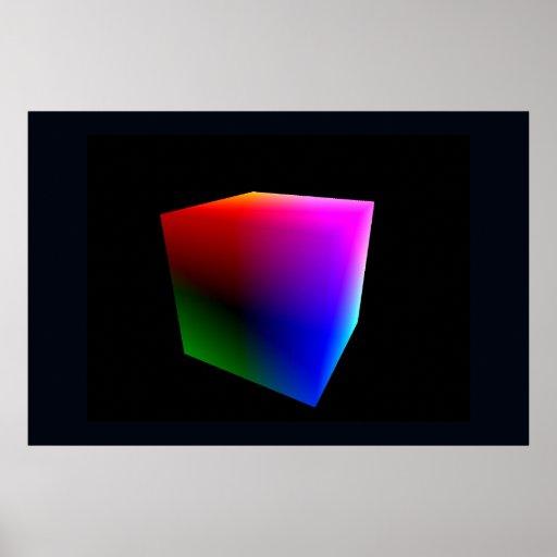 YUV Color Cube, Darkside Poster