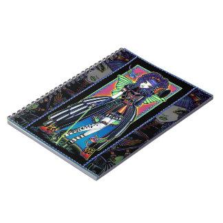 Yuxtaponga el cuaderno de la hada del carnaval del
