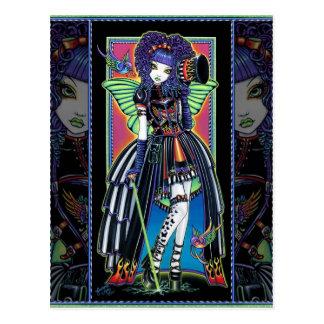 Yuxtaponga la postal de hadas del carnaval del arc