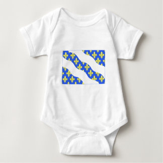 Yvelines flag baby bodysuit