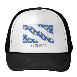 Yvelines flag with name trucker hat