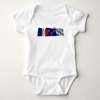 Yvelines, Île-de-France & France flags Baby Bodysuit