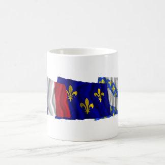 Yvelines, Île-de-France & France flags Coffee Mug