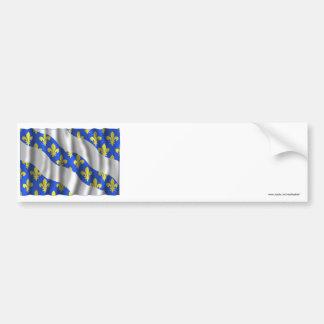Yvelines waving flag bumper sticker