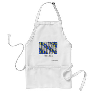 Yvelines waving flag with name adult apron