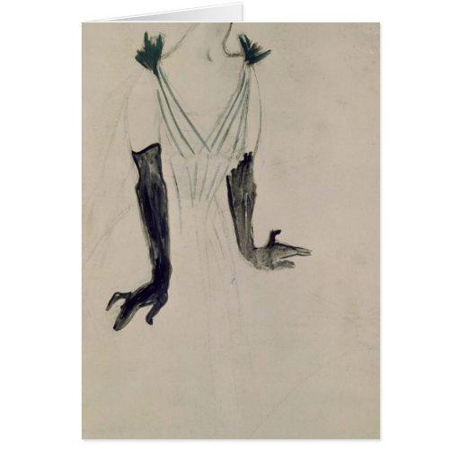 Yvette Guilbert , 1894 Greeting Card