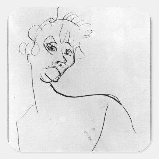 Yvette Guilbert  1894 Square Sticker
